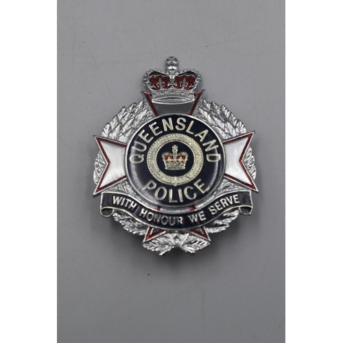47 - Australian Queensland Police Helmet Badge...