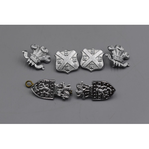 51 - Three Pairs of British Police Collar Badges...
