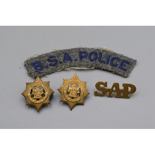 54 - Four South African Police Badges...