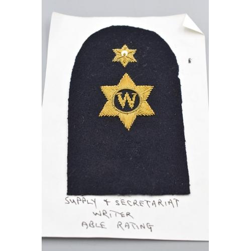 13 - Nine Vintage Royal Navy Gold Bullion Badges...
