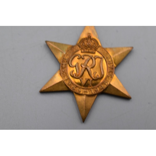 17 - WWII British 1939-45 Full Size Star medal With Ribbon...