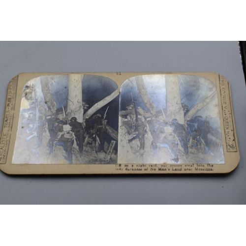 18 - Five different WWI Scene Stereoscopic photographs...