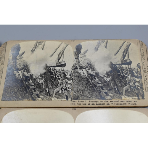 19 - Five different WWI Scene Stereoscopic photographs...