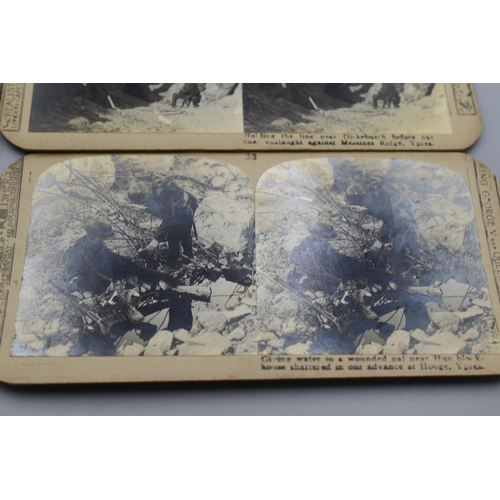 20 - Four different WWI Scene Stereoscopic photographs...