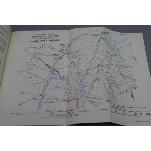 21 - British Military Manuel Of Map Reading and Field Sketching 1921. Many Fold Out Maps...