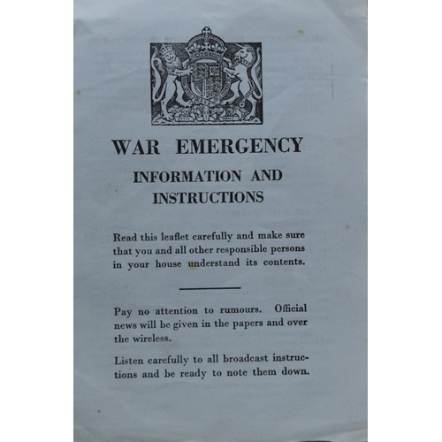24 - Two WWII ARP Manuals - Personal gas Protection and Decontamination of Materials plus a war emergency...