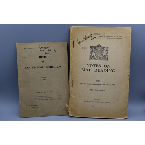 25 - Two WWII British Army Manuals - Notes on map reading introduction 1943...