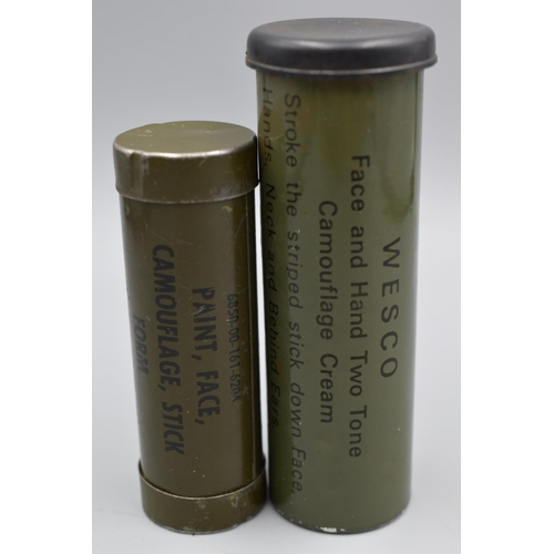 36 - Two Metal Tubes Containing Military Camouflage Face Paint...
