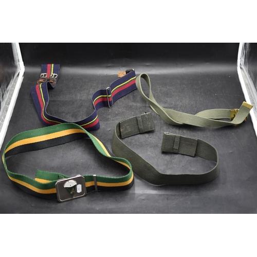 56 - Four Military Waist belts...
