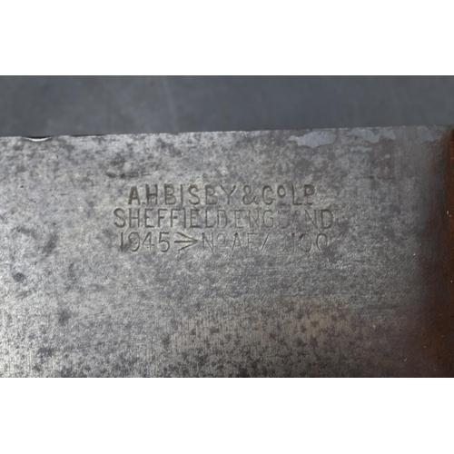 51 - WWII British Military Jungle Machete. Blade Marked A.H Bisby & Co Ltd, Sheffield, England 1945, No A...