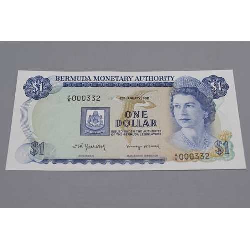 13 - Bermuda Monetary Authority 1982 One Dollar Note...