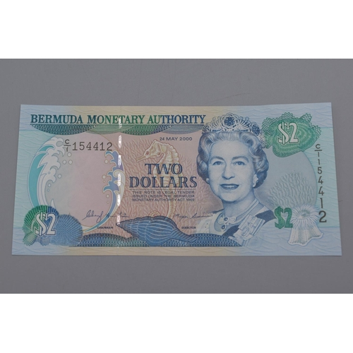 14 - Bermuda Monetary Authority 2000 Two Dollar Bank Note...