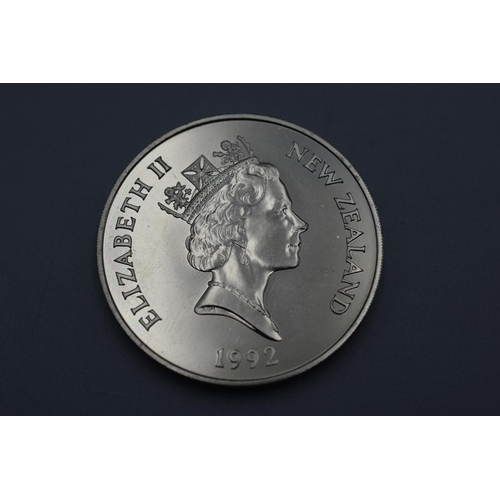 22 - New Zealand $5 Silver Proof 1992 Coin for the 25th Anniversary of Decimal Currency...