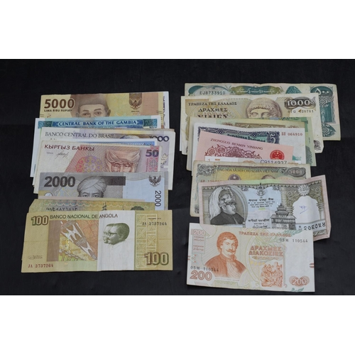 33 - Selection of 25 Mixed Worldwide Bank Notes...