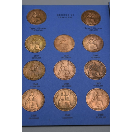 40 - Folder Containing Great Britian Pennies Collection 1930-1966 number Four and Four Half Pennies 1964-...