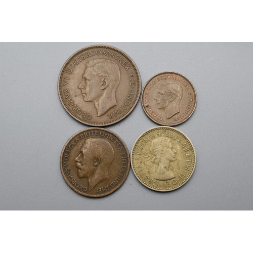 45 - Selection of Mixed coins to Include George VI One Penny, Elizabeth II Three pence and More...