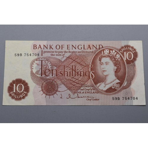 49 - Bank of England (Hallam) Ten Shillings Bank Note (59B 754704)...