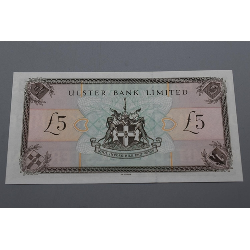 57 - Ulster Bank Ltd 1998 Five Pound Ban Note (B8022314)...
