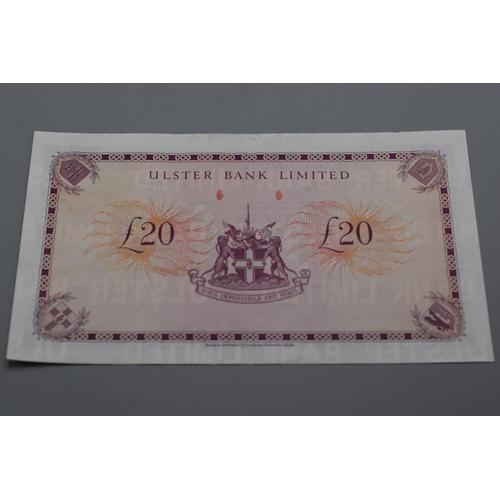 59 - Ulster Bank Ltd 1988 £20 Bank Note (D2434340)...