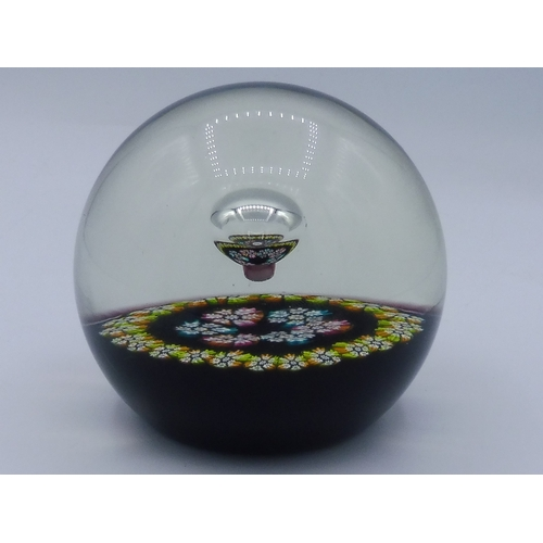 Caithness Glass Millefiori Reflection's Paperweight