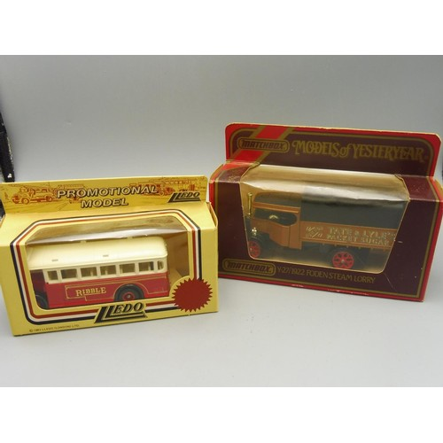 Lledo Promotional Die-Cast Model of Ribble Bus and a Matchbox Die-cast Fodensteam Lorry both in Orifinal Boxes
