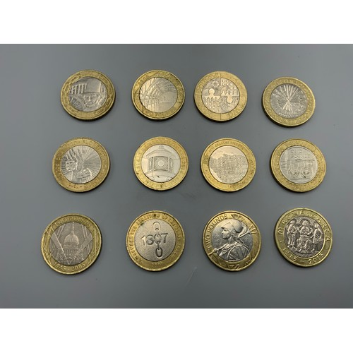 Selection of 12 Collectors £2 Coins including Brunel, Charles Dickens, Magna Carta, Slavery, Britannia and more