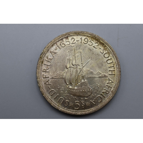 George VI South African 1952 Silver 5 Shilling Coin