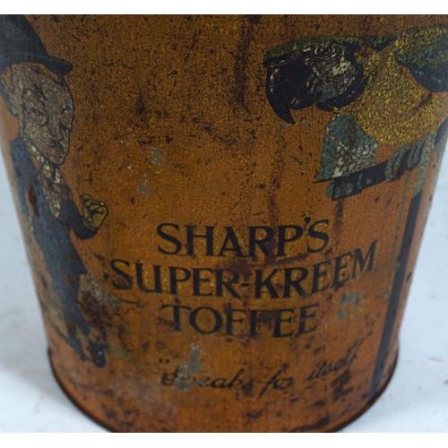 13 - SHARP'S SUPER-KREEM TOFFEE TIN BUCKET