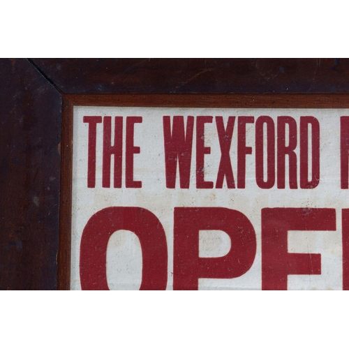 16 - THE WEXFORD MUSICAL SOCIETY'S OPERA DANCE POSTER