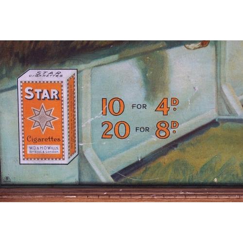 22 - WILLS'S STAR CIGARETTES ORIGINAL POSTER