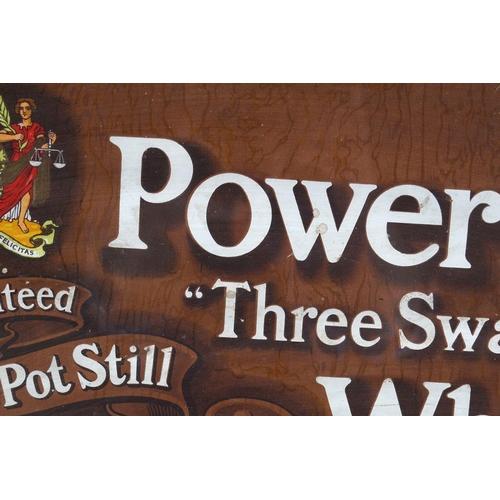27 - POWERS THREE SWALLOW WHISKEY ORIGINAL POSTER