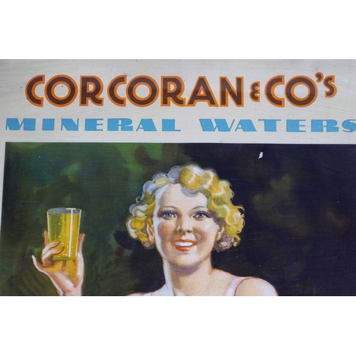 30 - CORCORAN & CO'S MINERAL WATERS ORIGINAL SIGN