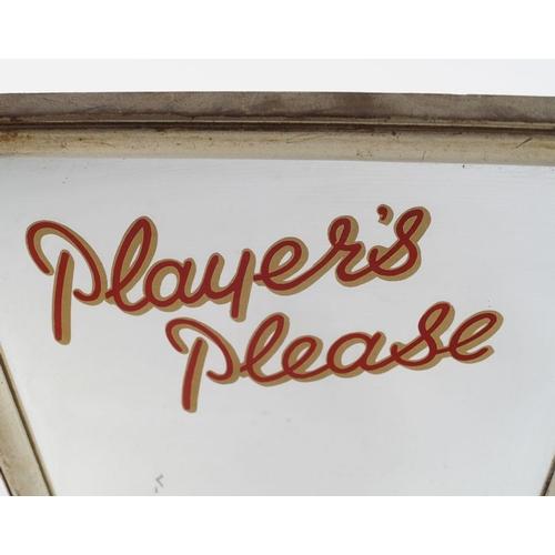 34 - PLAYER'S PLEASE ORIGINAL ADVERTISING MIRROR