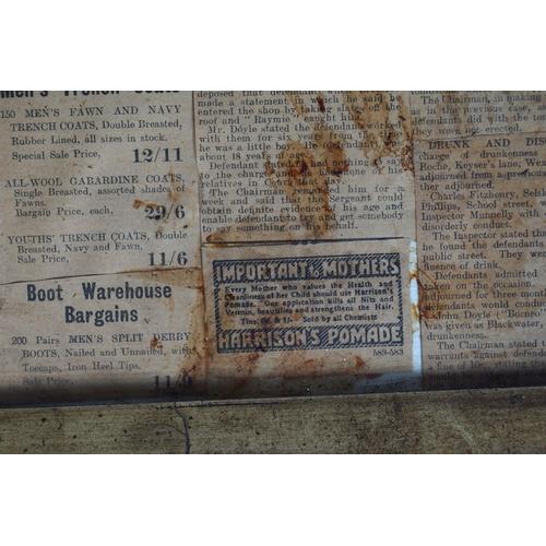 36 - FRAMED NEWSPAPER