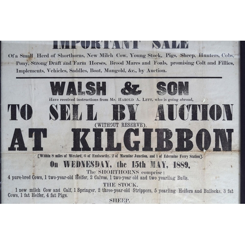 56 - FRAMED AUCTION POSTER