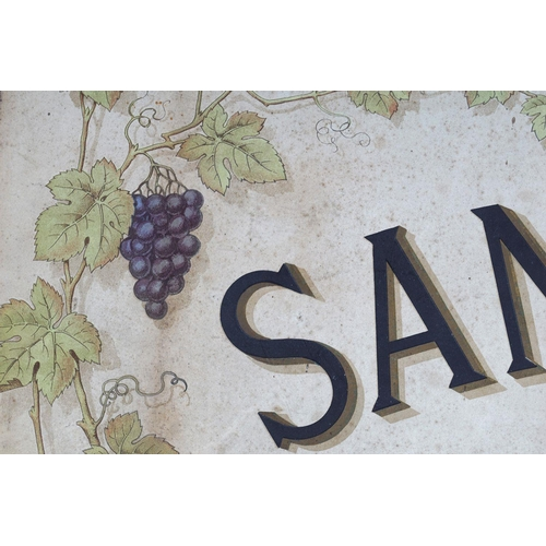 58 - SANDEMAN'S PORTS & SHERRIES ORIGINAL POSTER