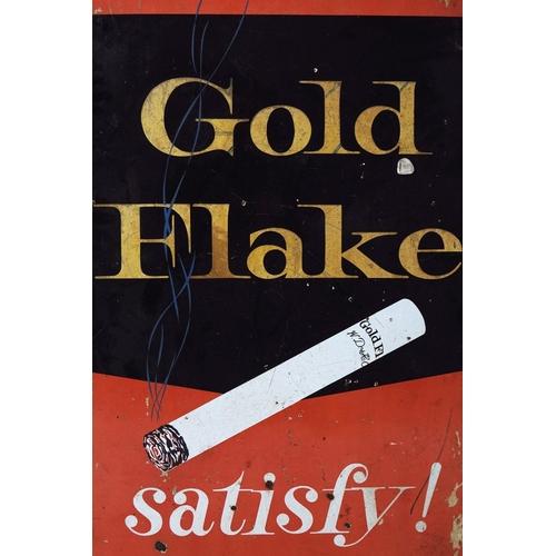 59 - GOLD FLAKE SATISFY! ORIGINAL SIGN