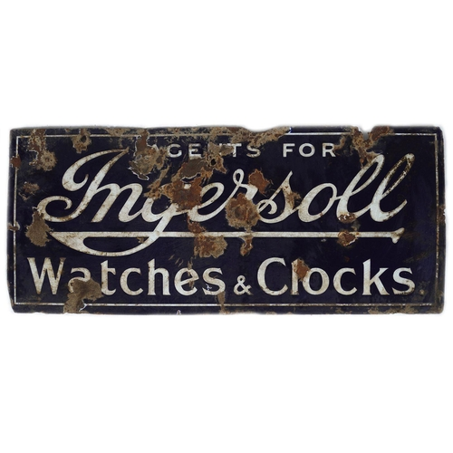 8 - AGENTS FOR INGERSOLL WATCHES & CLOCKS SIGN
