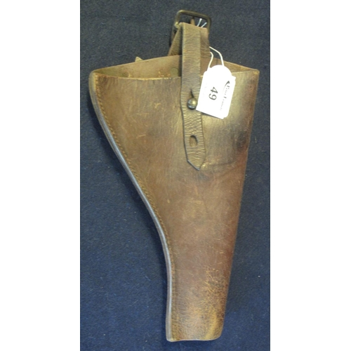 49 - Leather military pistol holster.  (B.P. 24% incl. VAT)...