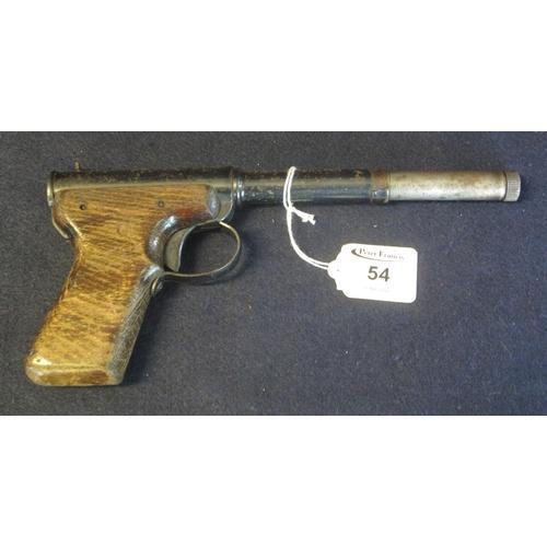 54 - Diana model II air pistol with wooden grip. (B.P. 24% incl. VAT)...