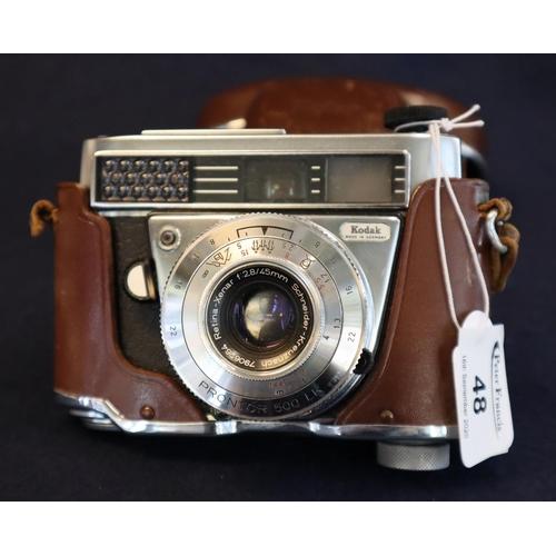48 - Vintage Kodak Retina IF camera in leather case.  (B.P. 21% + VAT)...