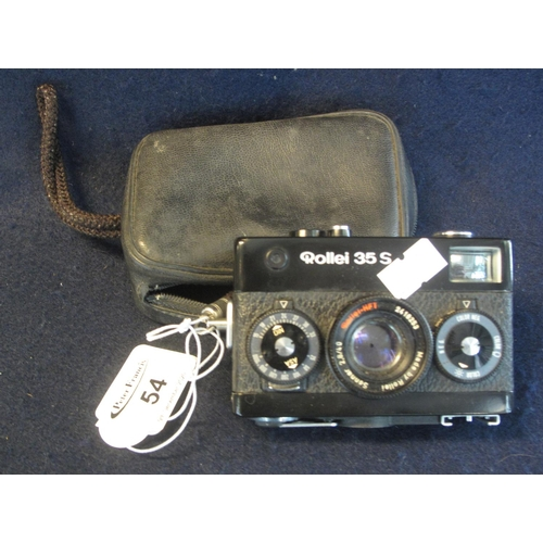 54 - Rollei 35S compact camera in leather case.  (B.P. 21% + VAT)...