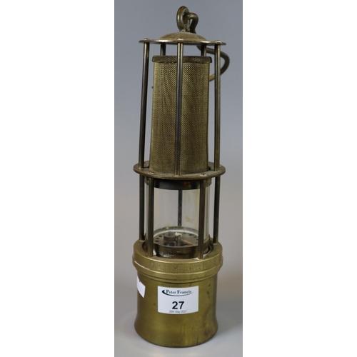 27 - Wilhelm Seippel Dortmumd German brass miners lamp Z.L360A. (B.P. 21% + VAT)