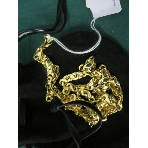 18ct. Yellow Gold Necklace, 62g.