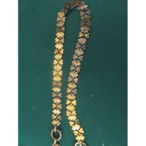 76 - Victorian Heart Necklace in fitted cased, stamped 15c. Dated 1881, 15.7 g.