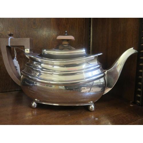 85 - Chester Silver Presentation Teapot 19½Troy Oz.