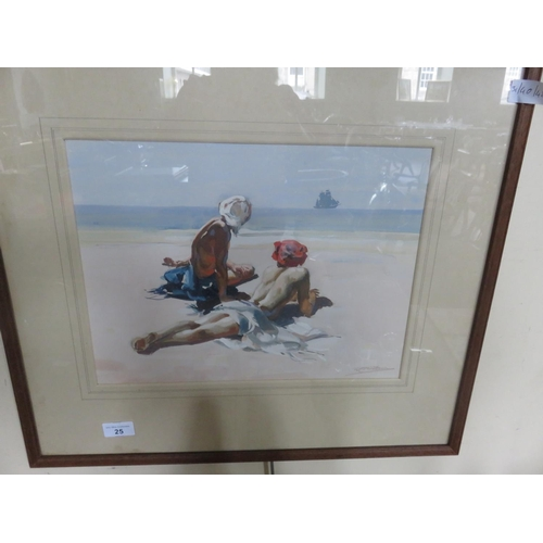 25 - Framed Watercolour