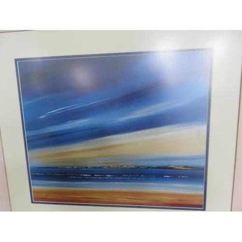 30 - Large Framed Coastal Scene, J. Spinelli