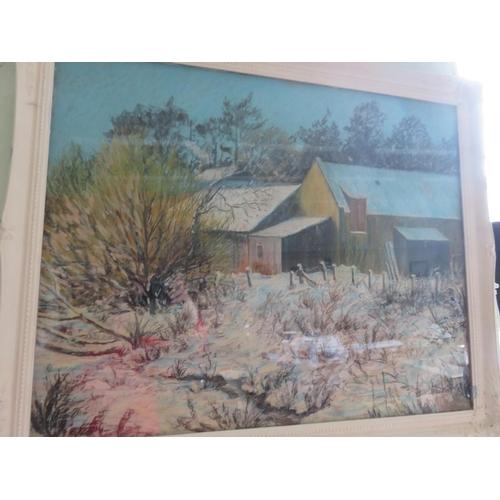45 - Framed Watercolour/Pastel