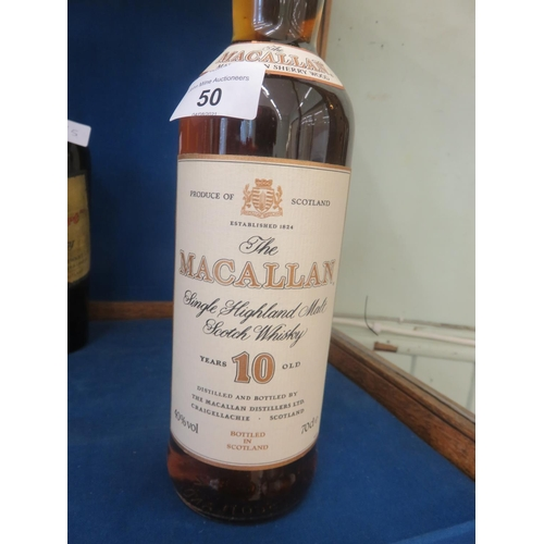 50 - Boxed Bottle of MacAllan 10 year old Whisky